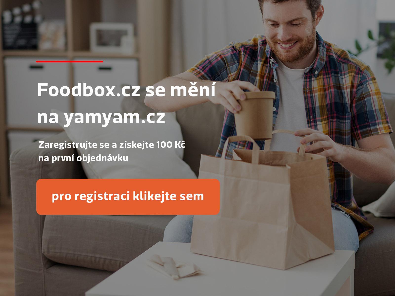 Foodbox.cz se mění na yamyam.cz - Zaregistrujte se a získejte 100 Kč na první objednávku - pro registraci klikněte sem